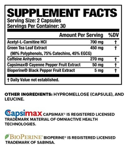 Burn-XT-ingredients